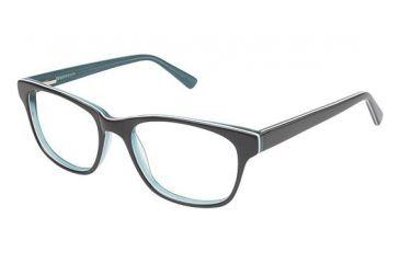 Visions 205 Bifocal Prescription Eyeglasses - Frame Black / Turquoise, Size 51/17mm VIVISION20501