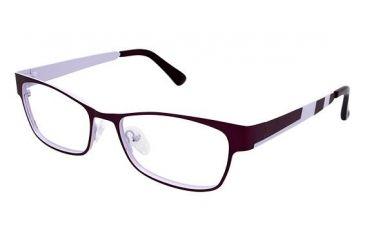 Visions 206 Progressive Prescription Eyeglasses - Frame Matte Magenta / Pale Pink, Size 54/16mm VIVISION20602