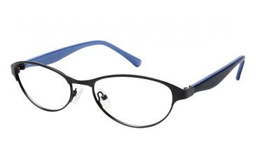 Visions 207 Single Vision Prescription Eyeglasses - Frame Black, Size 53/17mm VIVISIONS20701