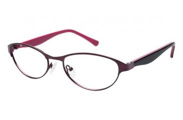 Visions 207 Single Vision Prescription Eyeglasses - Frame Purple, Size 53/17mm VIVISIONS20703