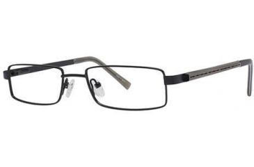 Visions 173 Single Vision Prescription Eyeglasses - Frame Semi-Matte Black/Pewter, Size 49/17mm VIVISION17301