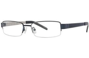 Visions 177 Single Vision Prescription Eyeglasses - Frame Blue/Silver, Size 54/17mm VIVISION17701