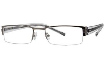 Visions 180 Progressive Prescription Eyeglasses - Frame Gunmetal/Black, Size 53/19mm VIVISION18001