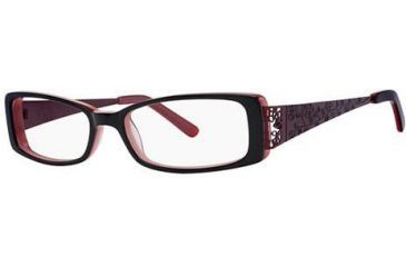 Visions 183 Single Vision Prescription Eyeglasses - Frame Black/Cherry, Size 51/14mm VIVISION18303