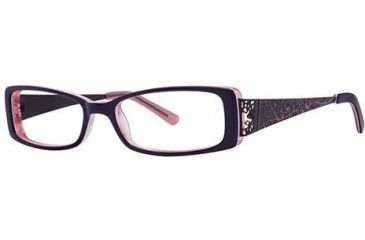 Visions 183 Single Vision Prescription Eyeglasses - Frame Purple/Pink, Size 51/14mm VIVISION18301