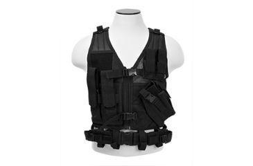 Vism Childrens Tactical Vest, Black CTVC2916B