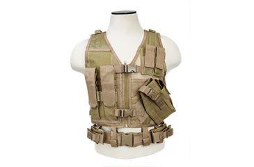 Vism Childrens Tactical Vest, Tan CTVC2916T