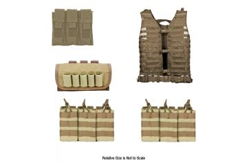 Zombie Dead Ops Kit, Tan - with Vest and 4 Pouches