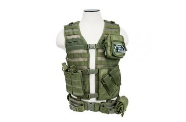 VISM Zombie Dead Ops Kit w/ Vest and 4 Mag Pouches, Green, Rezurrection Kit w/ Vest, MOLLE Panel, 4 Pouches 196626