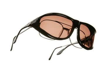 Vistana Black Frame XL Copper Polare Lens Sunglasses W202C