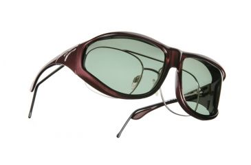 Vistana Burgundy Frame XL Gray Polare Lens Sunglasses W209G