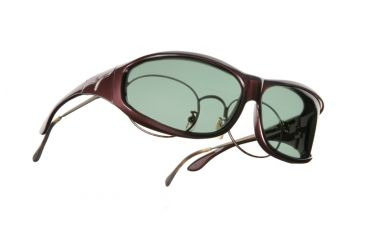 Vistana Burgundy Frame M Gray Polare Lens Sunglasses W409G