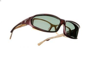 Vistana Burgundy Frame MS Gray Polare Lens Sunglasses W419G