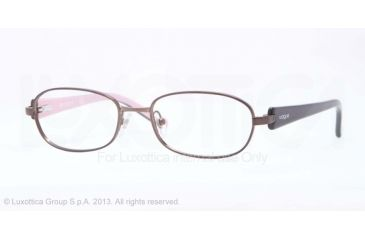 Vogue BABY 78 VO3746 Progressive Prescription Eyeglasses 934-45 - Dark Brown Frame