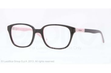 Vogue BABY 82 VO2810 Progressive Prescription Eyeglasses 2162-43 - Top Black/pink Frame