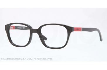 Vogue BABY 82 VO2810 Progressive Prescription Eyeglasses W44-43 - Black Frame, Demo Lens Lenses