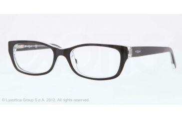 Vogue BABY 83 VO2811 Single Vision Prescription Eyeglasses W827-45 - Top Black/transparent Frame, Demo Lens Lenses