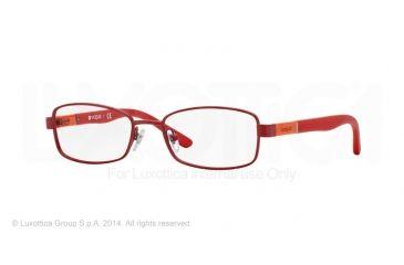 Vogue BABY 88 VO3926 Progressive Prescription Eyeglasses 957S-46 - Matte Metallized Red Frame