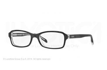 Vogue BABY86 VO2882 Eyeglass Frames W827-46 - Top Black/Transparent Frame