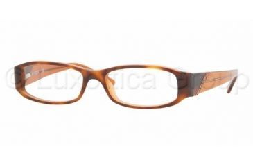 Vogue VO 2544 Eyeglasses Styles Top Havana-Brown Glitter Frame w/Non-Rx 49 mm Diameter Lenses, 1624-4915