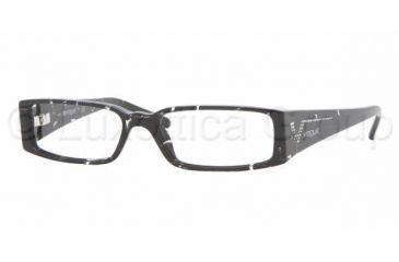 Vogue VO 2557B Eyeglasses Styles, Black Glitter Frame w/Non-Rx 49 mm Diameter Lenses, 1567-4915