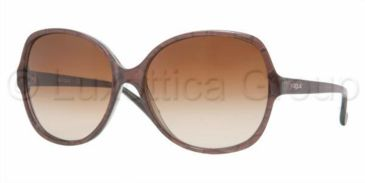 Vogue VO 2608S Sunglasses Styles Striped Brown Frame / Brown Gradient Lenses, 172513-5916, Vogue VO 2608S Sunglasses Styles Striped Brown Frame / Brown Gradient Lenses