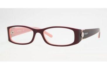 Vogue VO 2634B Eyeglasses Styles Top Violet-Pink Frame w/Non-Rx 50 mm Diameter Lenses, 1666-5016