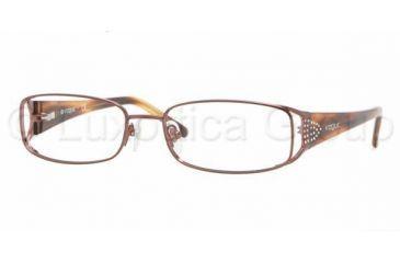 eb7f72c81b Vogue VO3671B SV Prescription Eyeglasses Dark Brown Frame   51 mm  Prescription Lenses