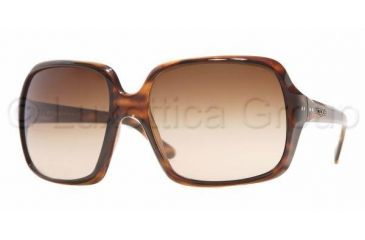 Vogue VO2513S Sunglasses Styles - Striped Havana Frame w/ Brown Gradient 63 mm Diameter Lenses, 150813-6318