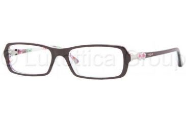 Vogue VO2673 Single Vision Prescription Eyewear 1882-5016 - Top Plum/Flowers Trans