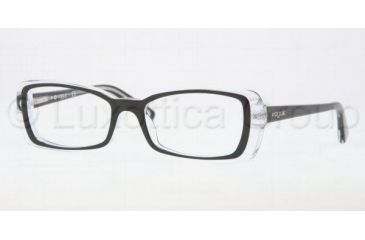 681575bab22 Vogue VO2692 Eyeglass Frames W827-4916 - Top Black Transparent