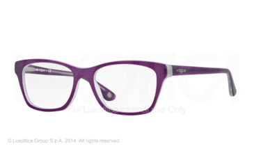 Vogue VO2714 Prescription Eyeglasses 2170S-52 - Top Matte Violet Transp Frame