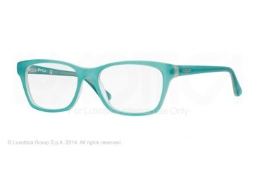 Vogue VO2714 Prescription Eyeglasses 2181S-52 - Top Matte Aqua Green Transp Frame
