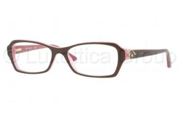 Vogue VO2738B Eyeglass Frames 1941-5216 - Top Brown On Pink Frame, Demo Lens Lenses