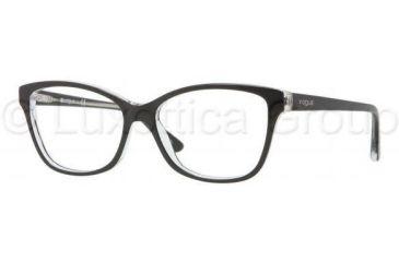Vogue VO2740 Progressive Prescription Eyeglasses W827-5215 - Top Black / Transparent Frame