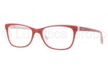 Vogue VO2763 Bifocal Prescription Eyeglasses 2013-5117 - Top Red/Pink Frame, Demo Lens Lenses