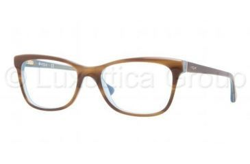 Vogue VO2763 Bifocal Prescription Eyeglasses 2014-5117 - Top Striped Brown/Azure Frame, Demo Lens Lenses