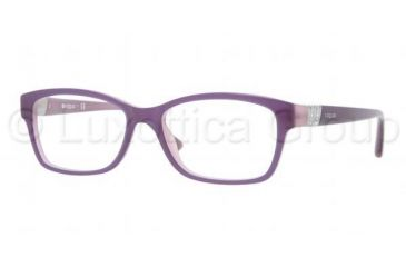 Vogue VO2765B Single Vision Prescription Eyeglasses 1312-5116 - Top Violet/Opal Pink Frame, Demo Lens Lenses
