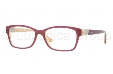 Vogue VO2765B Single Vision Prescription Eyeglasses 1984-5116 - Top Violet / Sand Frame, Demo Lens Lenses