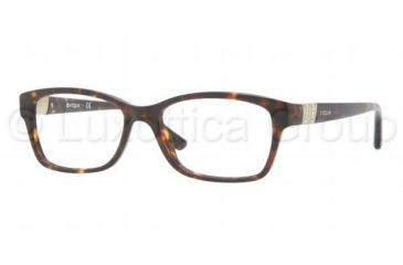 Vogue VO2765B Single Vision Prescription Eyeglasses W656-5116 - Dark Havana Frame