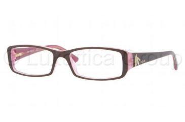 Vogue VO2768B Eyeglass Frames 1941-5116 - Top Brown On Pink Frame, Demo Lens Lenses