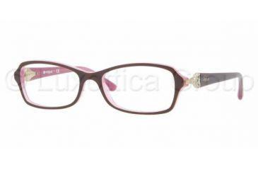 Vogue VO2789B Progressive Prescription Eyeglasses 1941-5216 - Top Brown On Pink Frame, Demo Lens Lenses