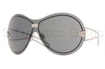 Vogue VO3637SB Sunglasses Styles Silver Frame w/ Gray 136 mm Diameter Lenses, 323-87-0136