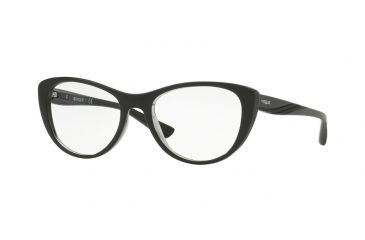 ea0cae6914 Vogue VO5102 Single Vision Prescription Eyeglasses 2385-51 - Top Black grey  Transparent Frame