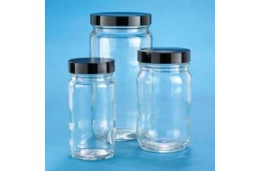 VWR AC Medium Round Bottles, Clear, Wide Mouth VW5710238C22 Bulk Packs With Unattached Caps In Bags