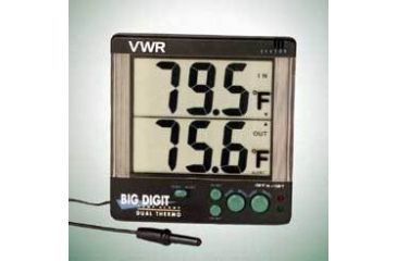 1-VWR Big Digit Four-Alert Alarm Thermometer 4143 Four-Alert Alarm Thermometer, °F