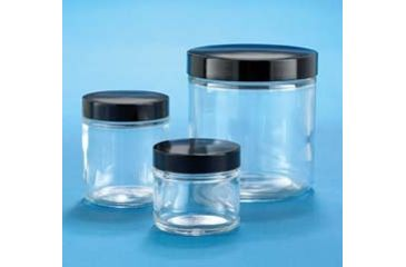 VWR Clear Glass Jars, Wide Mouth VW5410663C26 Bulk Packs With Unattached Caps In Bags