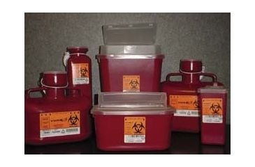 VWR Sharps Container Systems 8706TYV Stackable Sharps Containers Medium, Tortuous Path