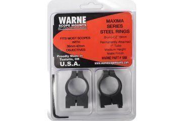 Warne 1in Riflescope Rings, Medium, Matte, PA CZ 550  1BM
