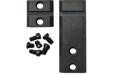 Warne Maxima 2 Piece Steel Base For Colt 45 Marlin Lever Actions Gloss Black